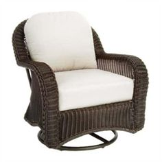 Summer Classics 3128 Classic Wicker Swivel Glider available at Hickory Park Furniture Galleries