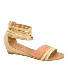 Look at this I Heart Footwear Nude Rhinestone Emma Sandal on #zulily today!