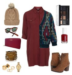 """Just feel like Burgundy"" by stefania-micheluz ❤ liked on Polyvore featuring Cutler and Gross, Topshop, Missoni, Madden Girl, Kate Spade, Chicnova Fashion, Lacoste, Pieces, Sif Jakobs Jewellery and NARS Cosmetics"
