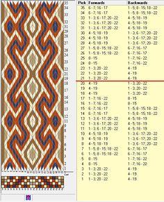 22 tarjetas, 4 colores, repite cada 20 movimientos // sed_1069 diseñado en GTT༺❁