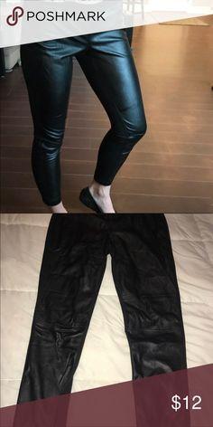 Faux Leather Leggings . Pants Leggings