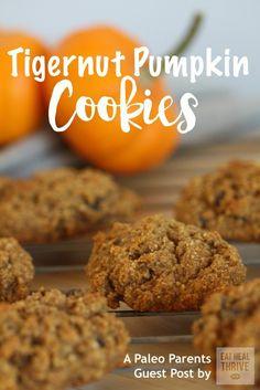 Paleo Parents Guest Post: Tigernut Pumpkin Cookies, Eat Heal Thrive | Nut-free, Paleo