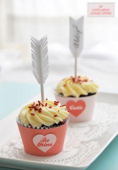 Such a cute Valentine's Day cupcake topper