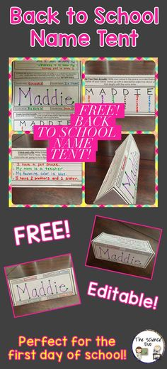 Free back to school activity. Great activity for the first day of school. Fully editable!