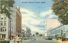 Vintage Evanston (IL) postcard, where my younger son and his family currently live