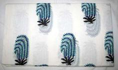Hand Block Print Fabric Running Cotton Sanganeri Print 10 Yard Floral Fabric  #Handmade