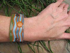 ceramic bracelet by subterraneanjewelry on Etsy, $25.00