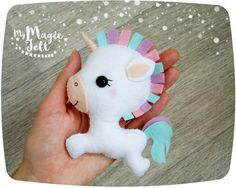 This item is Made to Order (4-6 weeks for making)  This is a very cute little unicorn made of felt. You can use this ornament to embellish your Christmas tree or Easter tree, for decoration of your home or a childs room, and just as a wonderful gift.  ● Dimensions - about 4 inch height ● Made of high quality eco-friendly polyester felt ● Delicately filled with polyester fiber filler ● 100% handmade (hand-cut and hand-sewing)  ❄❄❄ Please note ❄❄❄  ● Colors may vary slightly from those shown…