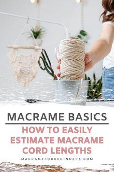 Macrame Plant Hanger Patterns, Free Macrame Patterns, Macrame Wall Hanging Patterns, Macrame Plant Hangers, Macrame Art, Macrame Design, How To Macrame, Macrame Supplies, Macrame Projects