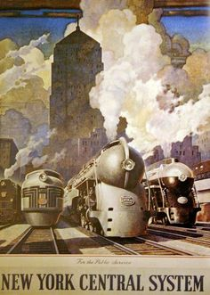 1946 New York Central System poster by Leslie Ragan