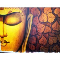 Half Buddha Painting Face Zen Online Paintings