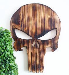 """Gefällt 66 Mal, 1 Kommentare - wood lover 😍 (@holzundleidenschaft) auf Instagram: """"Punisher wallart shou sugi ban version Ok, not really innovative, but once I had to make it. . .…"""""""