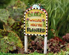 """/""""Warning Dragon Training Site/"""" Sign Fairy Garden Mini"""