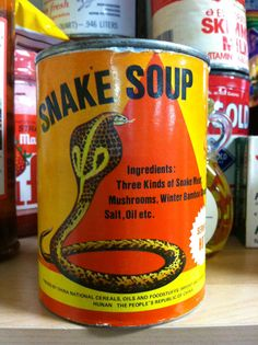 Check out this slideshow of strange items donated to Seattle food bank!  Snake soup, anyone?