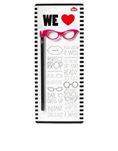 Catseye Glasses Pencil Topper