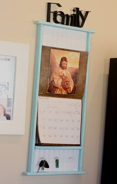 Painted calendar frame