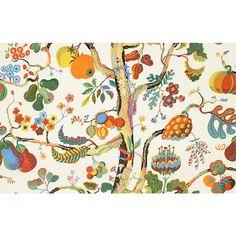 Textil Vegetable Tree 315 Lin   Svenskt Tenn