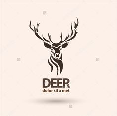 Modern logo idea for your company. Vector illustration - buy this stock vector on Shutterstock & find other images. Stag Tattoo Design, Tatoo Designs, Deer Design, Deer Tattoo, Logo Design, Hirsch Silhouette, Logo Deer, Logo Animal, Profile Logo
