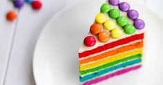 Recette de Gâteau d'anniversaire allégé façon Rainbow cake. Facile et rapide à réaliser, goûteuse et diététique. Ingrédients, préparation et recettes associées.