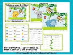 FREEBIE  Letter recognition/letter sound I-Spy  A Differentiated Kindergarten