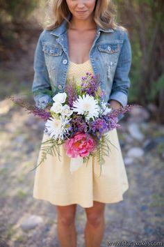 Summer style // denim jacket & sun dress