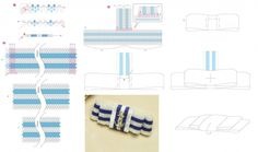простая стильная брошь брошка заколка, морская тема, морская тематика, морской стиль, мозаика, мозаичное плетение , бант, бантик из бисера с подвеской якорь