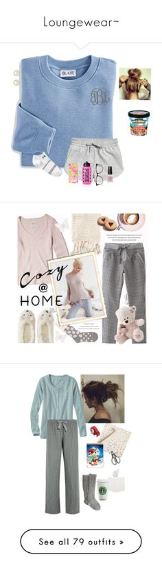 """Loungewear~"" by babylaci ❤ liked on Polyvore featuring Blair, Under Armour, Lilly Pulitzer, Victoria's Secret, GlassesUSA, Finesse, OPI, Irregular Choice, Hollister Co. and Aéropostale"