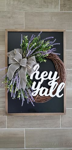 Lavender & Eucalyptus Grapevine Wreath. Year Round Wreath. Spring Wreath. Summer Wreath. Door Wreath. Grapevine Wreath.