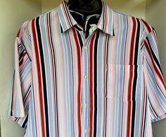 GB Black Label Men's Shirt Short Sleeves Striped Size 2XL | Clothing, Shoes & Accessories, Men's Clothing, Casual Shirts | eBay!