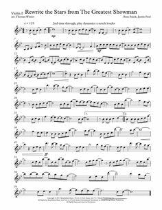Rewrite The Stars - Greatest Showman - String Quartet, Trio, Duo, Or Solo Violin By Zac Efron Viola Sheet Music, Free Violin Sheet Music, Saxophone Sheet Music, Cello Music, Digital Sheet Music, Music Sheets, Violin Songs, Violin Art, Violin Chords