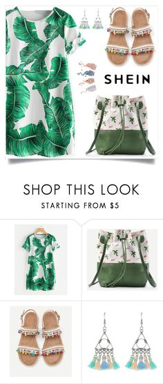 """""""Shein 2/1"""" by mirelaaljic ❤ liked on Polyvore featuring casualoutfit, summerstyle and summerfashion"""