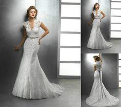 New Sexy White/Ivory Lace Bride Wedding Dress Custom Size2-4-6-8-10-12-14-16-18+   eBay