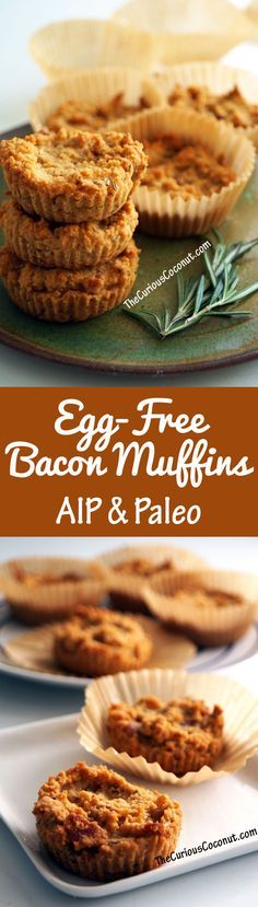Egg-Free Bacon Herb Muffins - protein-packed with gelatin and perfect for the #AIP paleo protocol! // TheCuriousCoconut.com
