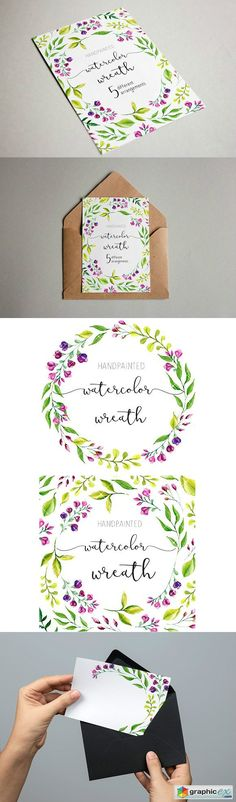 Watercolor wedding clipart flower  stock images