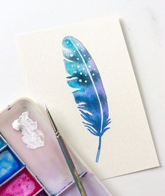 DIY: Three Ways To Paint A Watercolor Feather (For Beginners) | http://adventures-in-making.com/diy-three-ways-to-paint-a-watercolor-feather-for-beginners/