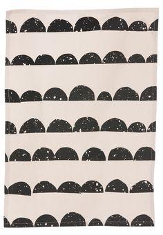 "Half Moon Tea Towel organic cotton 20"" X 27"" by Ferm Living."