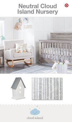 Looking to create a gender-neutral nursery? Look no further than Cloud Island, new and only at Target. Neutral colors don't have to be bland or boring. You can create a soothing, peaceful nursery by mixing and matching a variety of prints and patterns in a neutral palette. Simply mix whites, grays and khakis with modern wooden elements for a sophisticated look. Like these sheets and blankets—soft and cozy for Baby. Stylish and on-point with your unique style. #babystuffgenderneutral