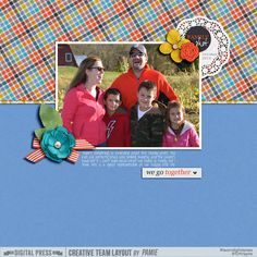 We Go Together Kit: About Us Collection by Sabrina's Creations Template from the 2015 NSD Template Challenge