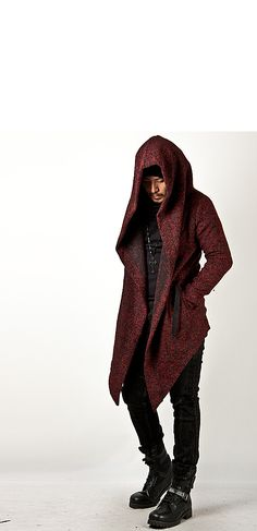 Avant Garde Unbeatable Diabolic Hood Cape Black Coat - Jackets | RebelsMarket