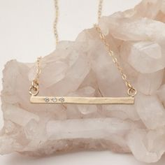 Cross Bar Necklace {14K Gold}