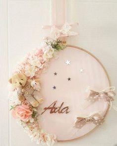 Dantelli Beyaz Lavanta Kesesi - Lace White Lavender Pouch - the Girl Nursery, Girl Room, Diy And Crafts, Crafts For Kids, Baby Door, Diy Bebe, Flower Names, Baby Birthday, Diy Flowers