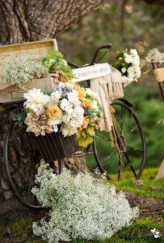Cargada de flores.