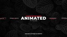 Vfx Tutorial, Lower Thirds, Adobe Premiere Pro, Creative Typography, Motion Design, Presentation, Packing, Positivity, Animation