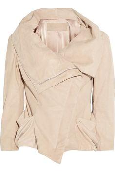 Donna Karan | Metallic suede jacket | NET-A-PORTER.COM