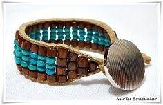 DIY Kahverengi Yeşil Bileklik / DIY Brown Grenn Bracelet