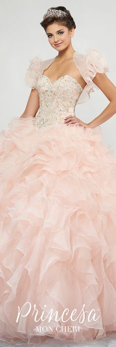 099e5031ec1 Pink Lace Embroidered Strapless Quinceanera Dress - PR11812