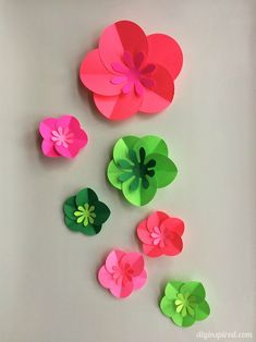 Easy DIY Paper Flowers Tutorial - Fun paper craft perfect for gift wrapping or party decor!