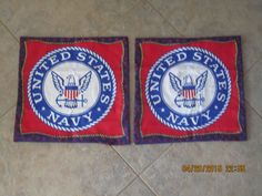 United States Navy - Military Unstuffed Pillow Set by ShawnasSpecialties on Etsy