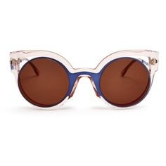 Fendi Bi-colour round-framed sunglasses