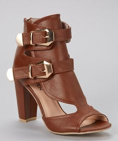 This Light Brown Nyla Sandal by Bumper is perfect! #zulilyfinds